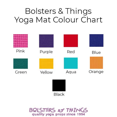 Bolsters & Things - Yoga Mat Colour Chart