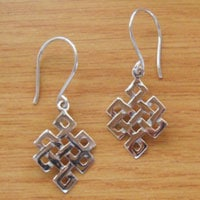 Bolsters & Things - Buddhist Eternity Knot Earrings