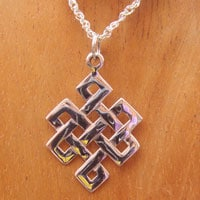 Bolsters & Things - Buddhist Eternity Knot Pendant