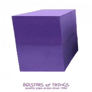 Bolsters & Things - Purple Foam Yoga Blocks x2