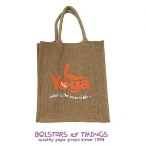 Hessian Yoga Carry Bag - Orange