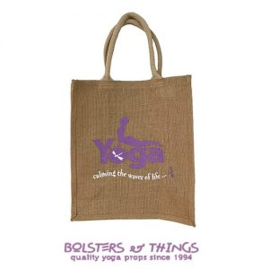 Hessian Yoga Carry Bag - Purple - Front